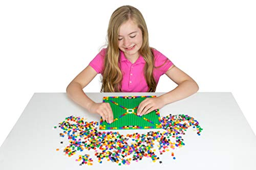 Strictly Briks Classic Bricks 3040 Pieces in 12 Colors 1x1 Pixel Building Creative Play Set with Organizer Bin - 100% Compatible with All Major Brick Brands - Arts and Crafts