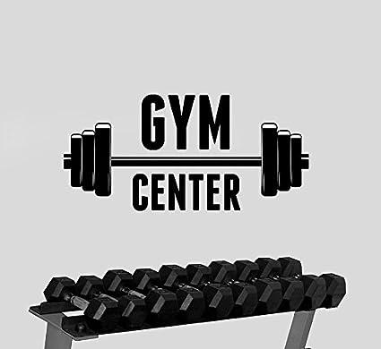 Gym center logo wall decal art removable vinyl sticker window