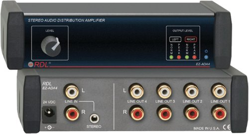 RDL EZ-ADA4 Stereo Audio Distribution Amplifier ()