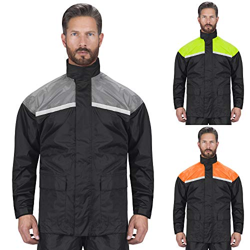 (Viking Cycle Motorcycle Rain Gear - Two Piece Motorcycle Rain Suit (Oray,)