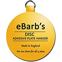 """eBarb's """"The Original"""" English Plate Hanger Disc--a quantity of THREE 5 Inch Hangers"""