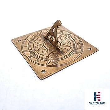 Vintage latón Sundal, latón reloj de sol de reloj, reloj de sol de latón