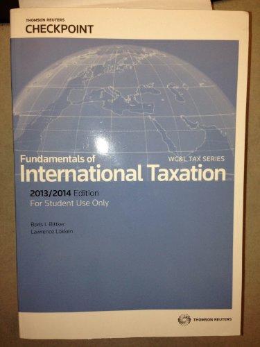 FUNDAMENTALS OF INTL.TAXATION 2013-14