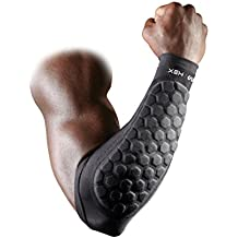 Mcdavid Hex Padded Forearm Compression Sleeve for Football & Contact Sports, Moisture Wicking to Keep You Dry & Cool, Includes 2 Sleeves