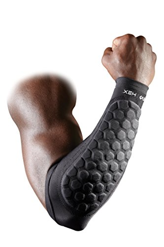 McDavid Neoprene Sleeve Rubber Outer Surface Padded Elbow, Medium (Forearm Protective Sleeve)