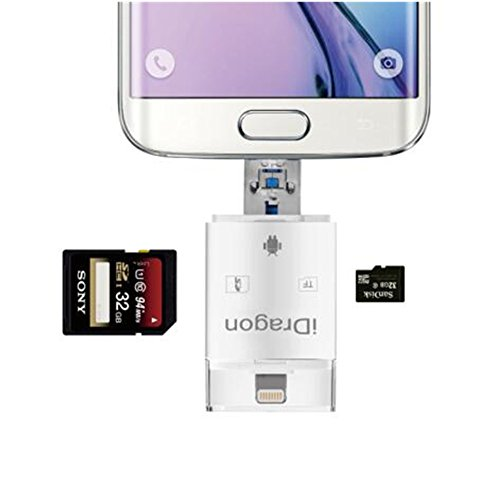 High Speed Lightning iReader USB SDHC Micro SD OTG Card Reader Support IOS 11 for iphone X 8/8 Plus 7/7 Plus 6S/6S Plus 6/6 Plus iPad PC & OTG Galaxy S6 S7 S5 S4 S3, Galaxy Note 4 3 2, LG G3 by LOTUS POWER (Image #6)