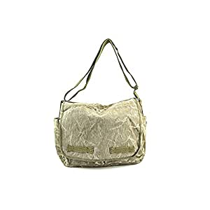 Rothco Stonewash Canvas Classic Messenger Bag, Olive Drab