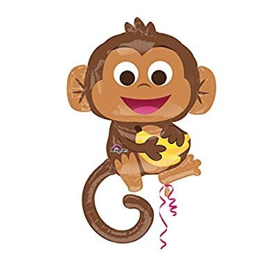 Happy Monkey with Banana Balloon: Toys & Games