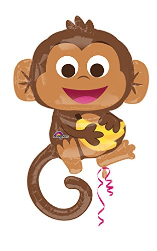 Happy Monkey with Banana Balloon -