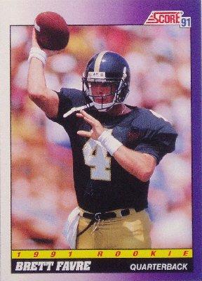 Brett Favre 1991 Score Rookie Card 611