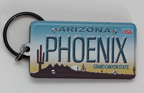 Phoenix Arizona License Plate Acrylic Keychain 2.5