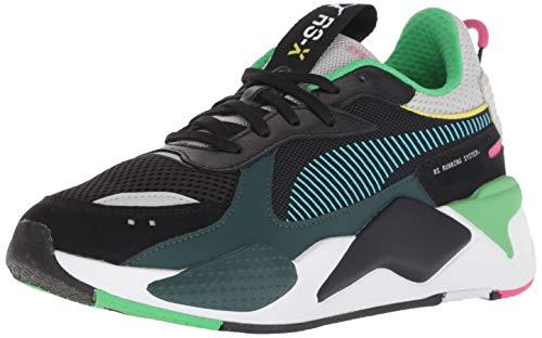 PUMA Unisex Kid's RS-X Sneaker, Black-Blue Atoll, 4 M US Big Kid (Transformers Tennis Shoes)