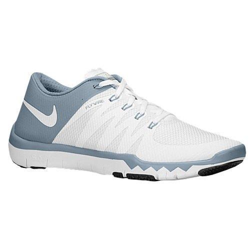 super popular 08c68 e59e8 NIKE Mens Free Trainer 5.0 V6 Flywire Mesh Running, Cross Training Shoes (6  M US, White/Dove Grey/Pure Platinum)