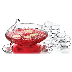 Libbey 14-Piece Moderno Punch Bowl Set