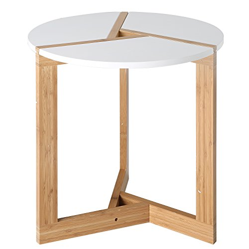 MyGift Bamboo Coffee Modern Tabletop