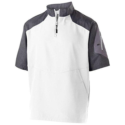 - Men's Raider Pullover S/S Holloway Sportswear 2XL Carbon Print/White