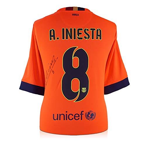Andres Iniesta Signed 2014-15 Barcelona Away Jersey | Autographed Memorabilia