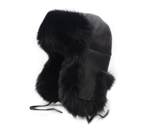 Karibu Women's Bertrina Leather Trapper Hat Size 58 Cm by Karibu