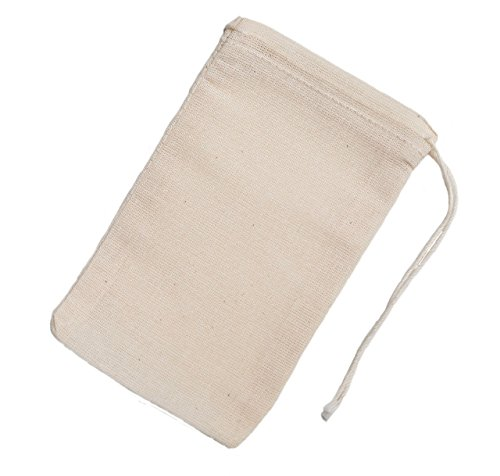 Celestial Gifts Cotton Muslin Bags 50 Count (3 x 5 inches) Natural Drawstring, made with 100% cotton in the USA by by Celestial Gifts