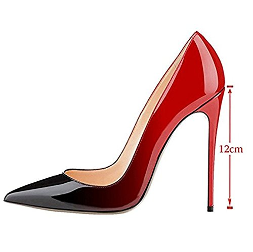 amp;black Heels Red Miuincy Shoes Sexy Party Classic Wedding Ladies High vwapzqE