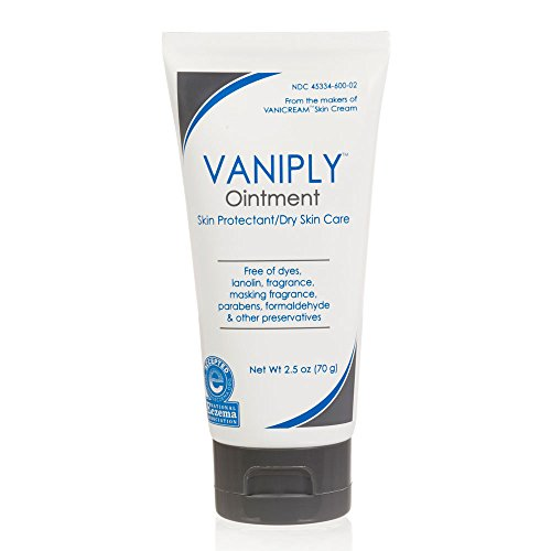 Vaniply Ointment Tube -Skin Protectant - Gently Soothes Dry, Irritated, Itchy Skin and Chaffing - Dermatologist Tested - Preservative Free - 2.5 ounce (Best Lip Balm For Sensitive Skin)