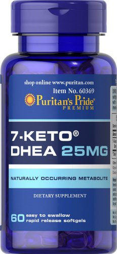 Puritans Pride Rapid Release Softgels  7 Keto Dhea  25 Mg  60 Count
