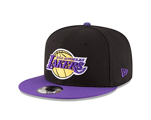 NBA Los Angeles Lakers Men's 9Fifty 2Tone Snapback Cap, One Size, Black