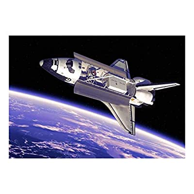 Fascinating Style, Space Shuttle Floating in Space Above Planet Earth Wall Mural, Classic Artwork