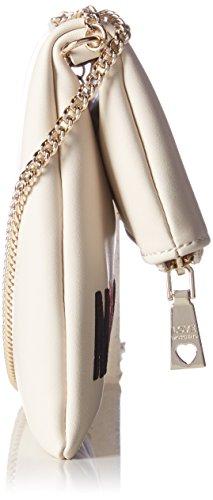 Love Moschino Borsa Calf Pu Avorio - Borse a spalla Donna, Weiß (Ivory), 18x24x1 cm (L x H D)