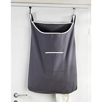 hanging laundry bag canvas zipper bottom