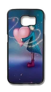 Samsung Galaxy S6 Edge Customized Unique Hard Black Case Doll Love Case S6 Edge Cover PC Case