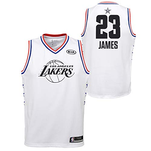 Outerstuff Youth 2019 NBA All-Star Game Lebron James White Swingman Jersey (Youth Medium)