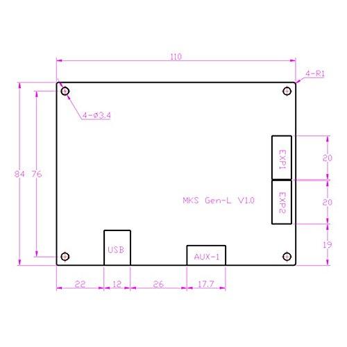 mks gen l  SODIAL MKS Gen L V1.0 scheda di circuito stampato scheda madre ...