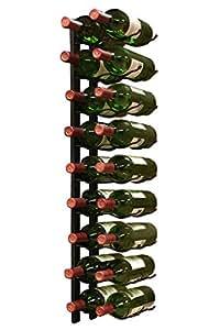 Epic metal 18botellas de vino, diseño de etiqueta pared orientada (Negro)