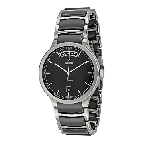 Rado-Centrix-Black-Dial-Stainless-Steel-Ceramic-Automatic-Male-Watch-R30156152