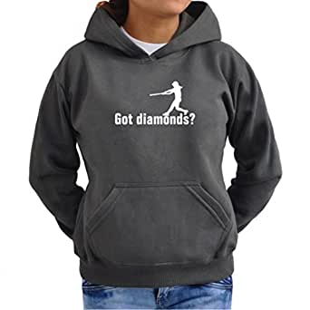 got diamonds Softball Women Hoodie