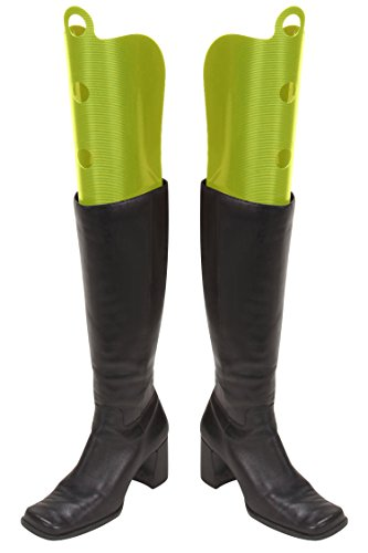Wander Agio Womens Fresh Tall Boot Shapers Tree Multifunction Long Thigh Boots Breathable Support Green 3 Pair (Updated Version, Wont Broken)