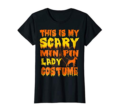 Womens This Is My Scary Min Pin Lady Costume Halloween -