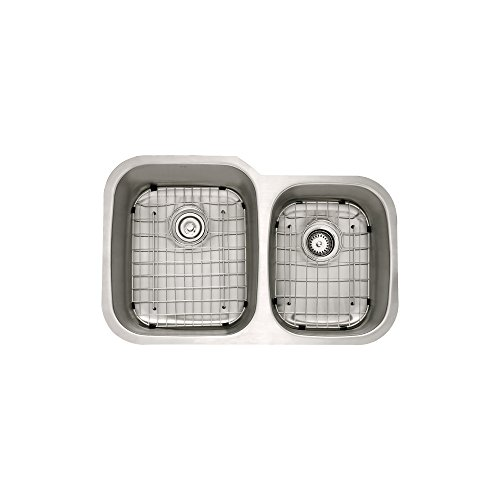 Kraus KBU24-1630-42SS Modern Undermount 60/40 Double Bowl Sink with Pull Down Faucet, 32