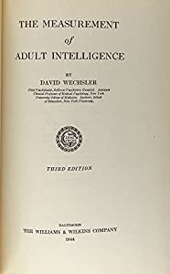 Hardcover The Measurement of Adult Intelligence, 3rd, Third Edition Book