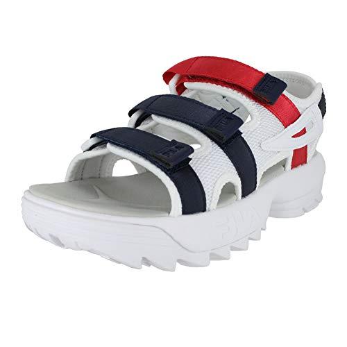 Fila Women's Disrupter Sandals, White/Fila Navy/Fila Red, 7 M US from Fila