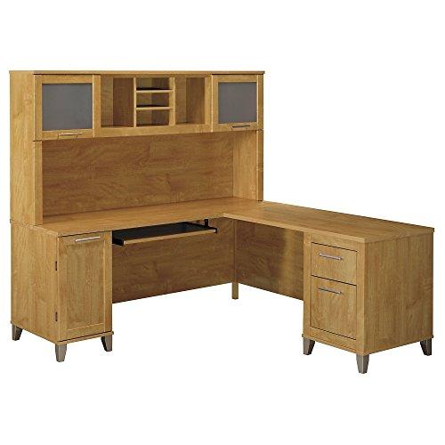 Bush Furniture L-Desk with Hutch, 71