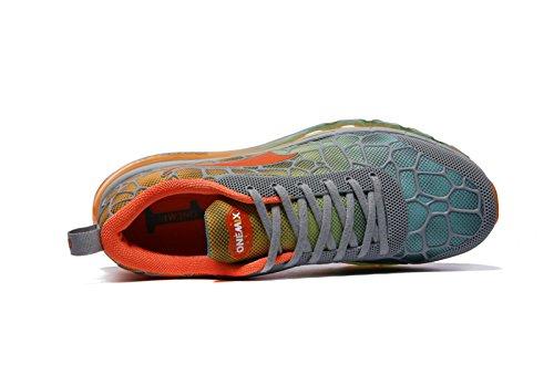 Onemix Uomo Leggero Cuscino Daria Sport Scarpe Da Corsa Un Grigio / Arancione
