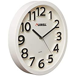 Lorell LLR61006 13 Round Quartz Wall Clock, White