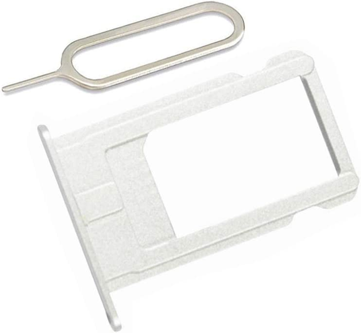 LIBAI-V SIM Card Slot Holder Replacement Part for iPhone 6 Plus Incl Eject Pin + Cloth (Silver)