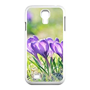 3D Okaycosama Funny Samsung Galaxy S4 Case Flower 233 for Teen Girls Protective, Phone Case for Samsung Galaxy S4 M919, [White]