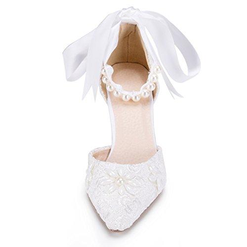 De Tendance Femme Fashion Mariage Kevin Blanc Chaussures 7xOvgC