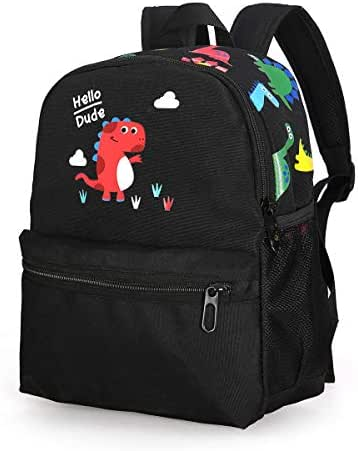 Cute Dinosaur School Kid Backpack Black Toddler Bag Kindergarten Boy 3-6 Year