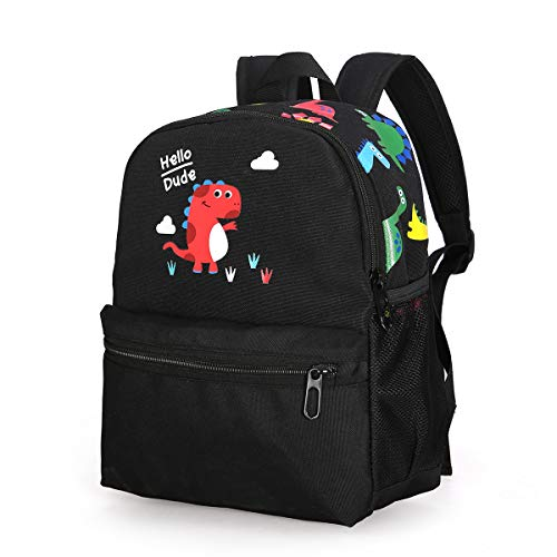 Cute Dinosaur School Kid Backpack Black Toddler Bag Kindergarten Boy 3-6 Year (Best Lunch Box For 3 Year Old)