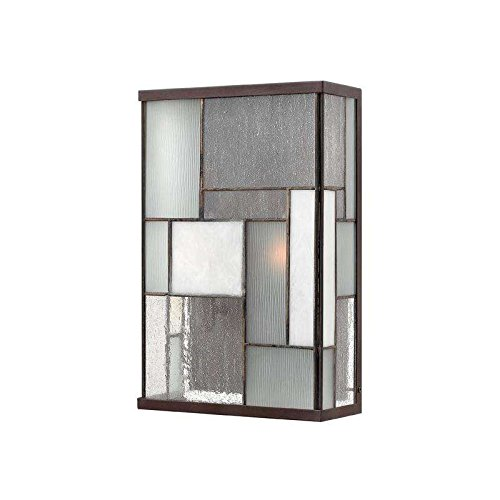 Hinkley 2154KZ Art Glass Two Light Wall Mount from Mondrian collection in Bronze/Darkfinish,